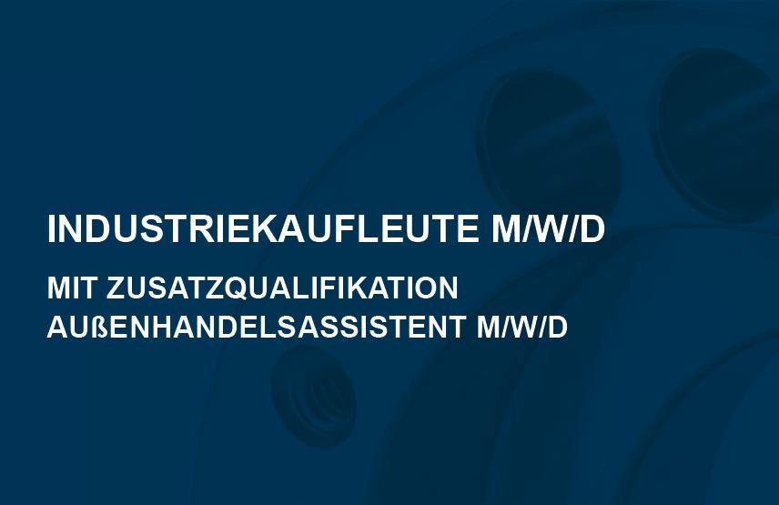 Industriekaufleute m/w mit Zusatzqualifikation Außenhandelsassistent/-in